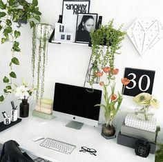 boho chic desk styling