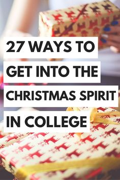 Who says that you can't celebrate Christmas when you're in college? Sure, it might be a little harder, but there are plenty of ways to get into the Christmas spirit, even while you're neck-deep in ...