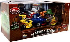 Disney / Pixar CARS 2 Movie Exclusive 148 Die Cast Car 5Pack Mater Rama Includes Ivan Mater! by Disney Store. $49.95. Die cast metal. Up to 4 1/2'' L. Set Includes:Taco Truck Mater, Materhosen, Dracula Mater, Drag Star Mater, Ivan Mater (Exclusive). That master of disguise, Tow Mater, shows off some of his colorful identities in this Mater-Rama Cars Die Cast Set. Featuring five different Maters, this set includes the exclusive Ivan Mater disguise! Cars 2 Movie, Martin Car, Tow Mater, Die Games, Disney Pixar Cars, Theme Ideas, Hot Wheels, Diecast, Remote