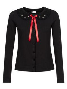 Pussy Deluxe Black Stories Sweet Collar Jacke schwarz Brands Pussy Deluxe Sweater & Hoodies