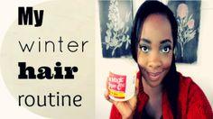 My winter hair routine
