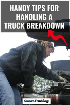 Truck Driver Tips For Handling a Big Rig Breakdown Safe Driving Tips, Truck Driving Jobs, Driving Safety, Big Rig Trucks, New Trucks, Transport Info, Washer Fluid, Truck Repair, Windshield Washer