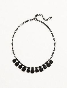 Black Stone Chain Necklace