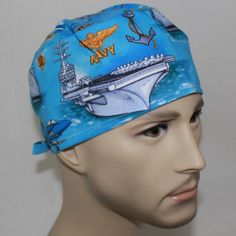 423572c0eed79 Men s Surgical Scrub Cap by HatEnvyScrubHats on Etsy Surgical Caps