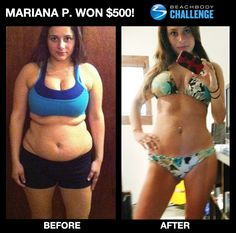 Mom lost 50 lbs in 60 days with the Insanity workout. Amazing before and after weight loss photo.