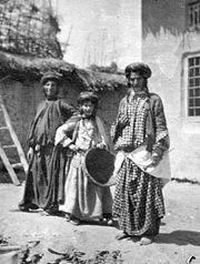 # Kurdish Jewish Women in Northern Iraq 1905 Mizrahi Jews From Wikipedia, the free encyclopedia Mizrahi Jews (יהדות מזרח Yahadut Mizrah) Total population 4,000,000 (estimate) Regions with significant populations Israel 3,100,000 [1] France 40