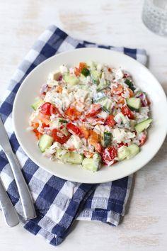 Griekse rijstsalade