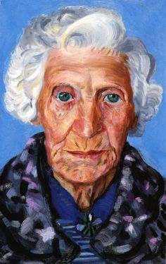 Grandma Tracey??? Doesn't this pic Look like her!?!  Crazy!  David Hockney, Mum, 1988-89