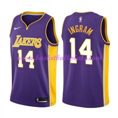803b3ca2057 Los Angeles Lakers Trikot Herren 2018-19 Brandon Ingram 14# Statement  Edition Basketball Trikots NBA Swingman