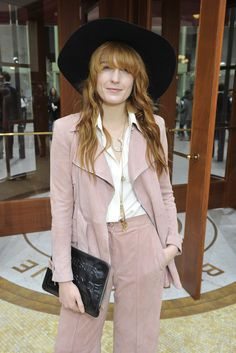 Florence Welch Front Row at Chanel [Photo by Stephane Feugere]