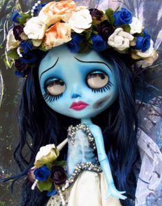 Blythe Custom caracterizada Corpse Bride para Mônica Figueiredo by ***MADAME MIX***, via Flickr