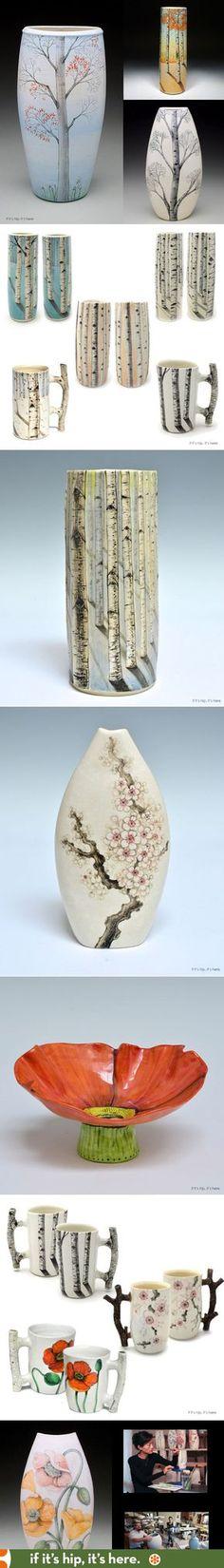 Hand-painted Porcelain by Heesoo Lee at http://www.ifitshipitshere.com/pretty-porcelain-vessels-heesoo-lee/
