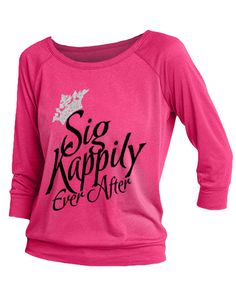Sigma Kappa Kappily Ever After Raglan