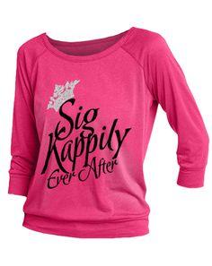 Sigma Kappa Kappily Ever After Raglan