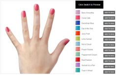 All the single ladies! (and the taken ones too) Put your hands up and TRY IT ON!   Easily switch from swatch to swatch by clicking on the colour. That easy! Have fun picking nail polishes. Add to bag later. :)  http://www.elescosmetics.com/boutique/ELES-Brighton-Coral-Cafe.html