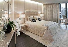 Ivory white bedroom - Fendi Casa - Hyde Park London