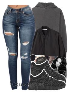 """"""""""" by xbad-gyalx ❤ liked on Polyvore featuring adidas Originals, T By Alexander Wang, MAC Cosmetics, GlassesUSA and Puma"""