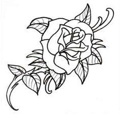 Old School Rose Outline By Vikingtattoo On DeviantART
