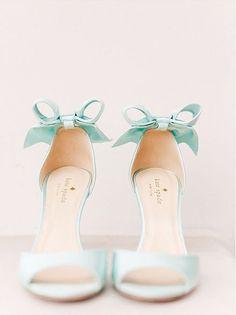 kate spade something blue wedding shoes!  ~  we ❤ this! moncheribridals.com