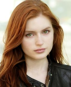 Perfect, red hair and green eyes.   ( Grace Holley )