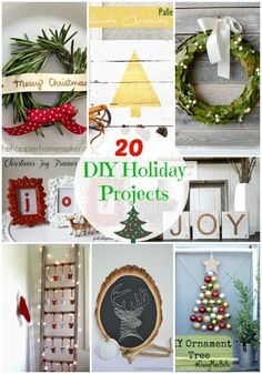 20 awesome DIY Holiday Projects featured on iheartnaptime.com #Christmas #crafts