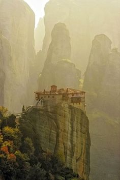 Meteora, Greece. This is just an off-the-charts location that I would love to visit. Greece is high on my list of places to see before I die.