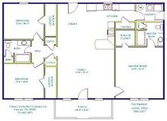 One Story House Plans with Open Concept | Eva – 1,500 Square Feet ...