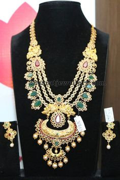 Uncut Diamond Emerald Three Step Set