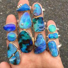 Opal rings by Jamie Joseph #october #birthstone #gems