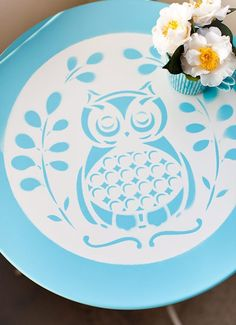 DIY owl table! more owl decor @BrightNest Blog  If you see an idea anywhere chances are we can make it, or we know someone who can! Just visit us on our facebook page or call us 765-744-1080 (10:00am to 6:00pm EST)  Find out more about me at: https://www.facebook.com/pages/Rustic-Farmhouse-Decor