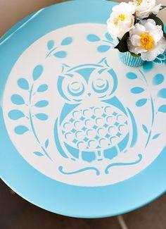 DIY owl table! more owl decor @BrightNest Blog