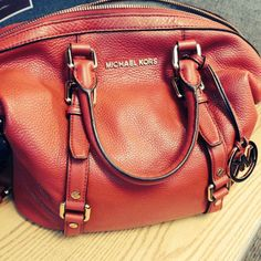 Brand New Red Leather Michael Kors Bag