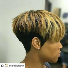 Well, one of the most trendy haircuts this year is the pixie haircut. Cute Hairstyles For Short Hair, Short Hair Cuts For Women, Bob Hairstyles, Short Cuts, Short Haircuts, Short Quick Weave Hairstyles, Baddie Hairstyles, Formal Hairstyles, Wedding Hairstyles
