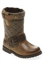 Tan Quilted Leather Boots