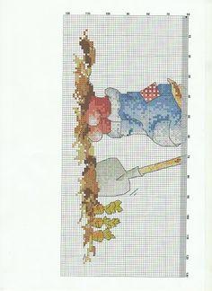 gardening rabitt2 coelho jardineiro de ponto cruz grafico