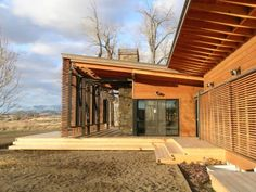Ruby Springs prefab - interesting timber and steel framed shading louvres