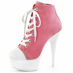 Oh man I need these! I remember wearing chunky heeled sneakers in middle school! High Heel Boots, Heeled Boots, Shoe Boots, Shoes Heels, Pretty Shoes, Beautiful Shoes, Cute Shoes, Sneaker High Heels, Fashion Boots