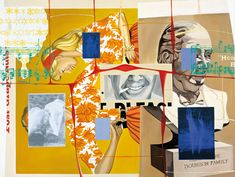 "David Salle (b.1952, USA), ""Bigger Rack"", (1998), Acrylic and Oil on canvas - Size: (244 x 335 cm.), 96 x 132"""
