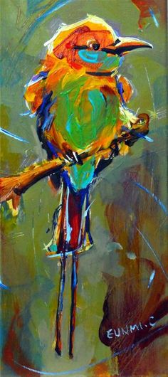 """On My Perch"" original fine art by Eunmi Conacher"
