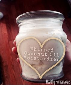 A fluffy non-greasy whipped coconut oil moisturizer BY Healthy Homemakers