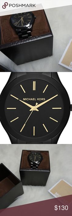 Michael Kors Gold and Black Watch Lightly used. Will ship in box Michael Kors Accessories Watches