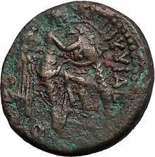 Titus - Jewish Roman War Win JUDAEA CAPTA Caesarea Maritima Ancient Coin i56073