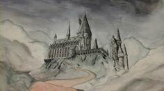 Hogwarts Hogwarts, My Arts, Painting, Painting Art, Paintings, Paint, Draw