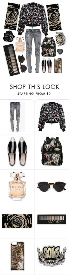"""""""Senza titolo #108"""" by thebrunettesalad ❤ liked on Polyvore featuring Balmain, Marni, Miu Miu, Valentino, Elie Saab, Christian Dior, Forever 21, women's clothing, women and female"""