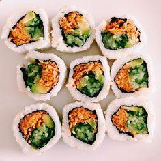 Sushi #veggie   photo by @annaboulog on instagram