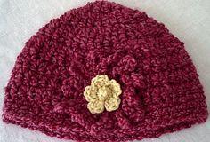 Free Crochet Pattern: Red Flower Power Hat — CindyAbel.com