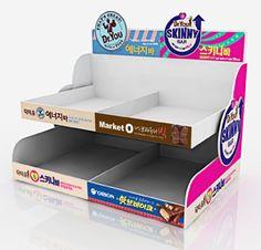 홍보용 피오피 제작의 모든것 피오피플랜의 노하우로 만듭니다. Pop Display, Display Design, Display Boxes, Pop Design, Graphic Design, Shelf Talkers, Retail Shelving, Countertop, Packaging Design