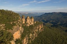 UNESCO World Heritage Site #32: Greater Blue Mountains Area, Katoomba and the Three Sisters (pictured), Australia.