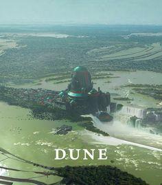 """Dune - Caladan Castle"" by Marcin Basta Fantasy Places, Sci Fi Fantasy, Fantasy World, Dune Book, Science Fiction, Aliens, Dune Frank Herbert, Dune Art, Sci Fi Environment"