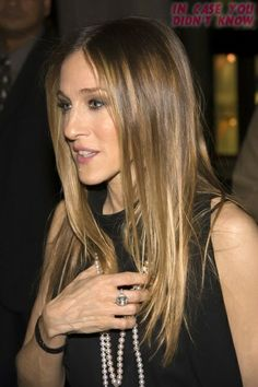 Sarah Jessica Parker , I want this hair. Just the right ombre.